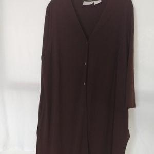 Long Brown cardigan